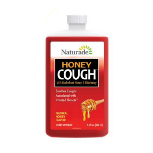 NATURADE: Honey Cough Syrup with Buckwheat Honey & Elderberry 8.8 oz