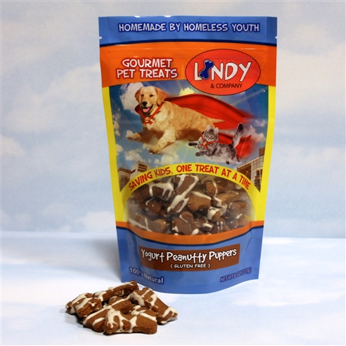 LINDY & COMPANY: Gourmet Dog Treats Yogurt Peanutty Puppers 8 oz
