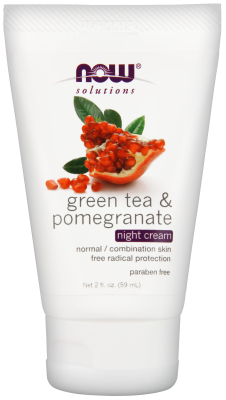 NOW: Green Tea Pomegranate Moisturizing Night Cream 2 oz