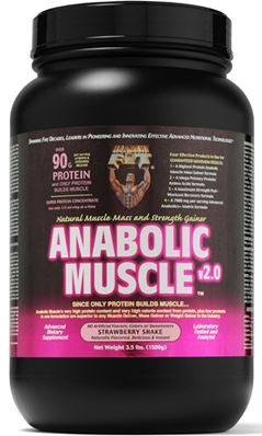 HEALTHY N FIT NUTRITIONALS: Anabolic Muscle Strawberry Powder 3.5 lb