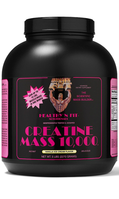 Creatine Mass 10000 Vanilla Powder 5 lb from HEALTHY N FIT NUTRITIONALS