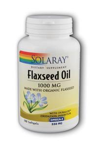 Solaray: Flaxseed oil 1000mg 100ct 1000mg