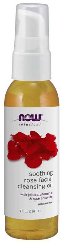 NOW: Soothing Rose Facial Cleansing Oil 4 fl oz