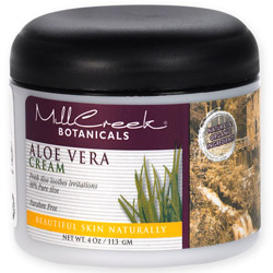 MILL CREEK BOTANICALS: 80  Aloe Vera Cream 4 oz
