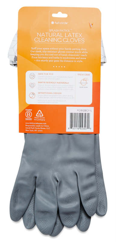 FULL CIRCLE: Natural Latex Cleaning Gloves (Large) 1 unit