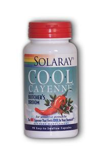 Solaray: Cool Cayenne with Butcher's Broom 90ct 40000hu