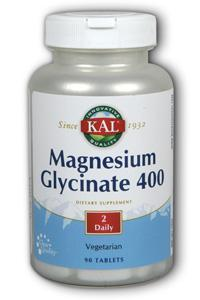Kal: Magnesium Glycinate 400 90ct 400mg
