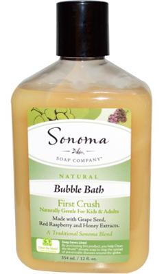 SONOMA SOAP COMPANY: Sonoma Soaps Bubble Bath-First Crush 12 oz