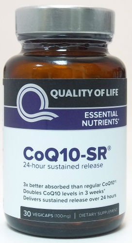 QUALITY OF LIFE LABS: CoQ10-SR 100mg 30 vegicaps