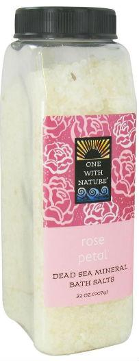 ONE WITH NATURE: Bath Salts Rose Petal 32 oz