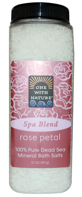 ONE WITH NATURE: Bath Salts Rose Petal 32 oz