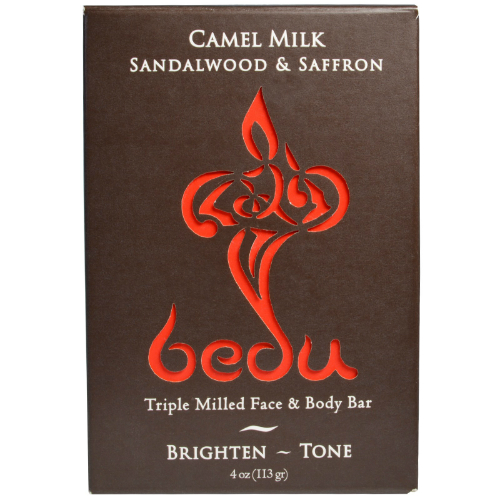Camel Milk Sandalwood & Saffron Bar Soap 4 oz from ONE WITH NATURE