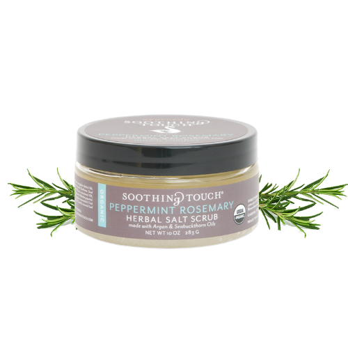 SOOTHING TOUCH LLC: Brown Sugar & Salt Scrubs Peppermint Rosemary 10 oz