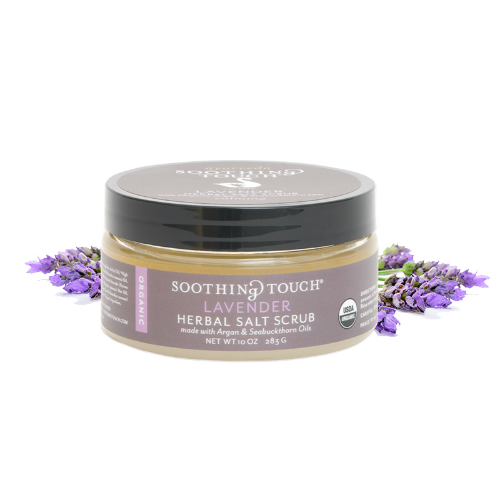 SOOTHING TOUCH LLC: Lavender Herbal Salt Scrub 10 oz