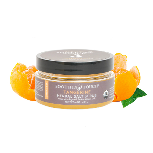 SOOTHING TOUCH LLC: Brown Sugar & Salt Scrubs Tangerine 10 oz