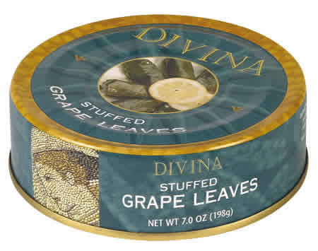DIVINA: Grape leaves,stfd,dolmas 7 OZ