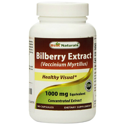 Best Naturals: Bilberry Extract 1000 mg 90 cap