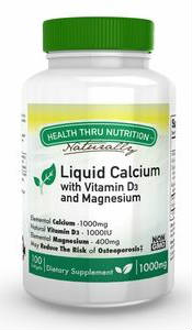 HEALTH THRU NUTRITION: Liquid Calcium with Magnesium 1000mg 100 softgel