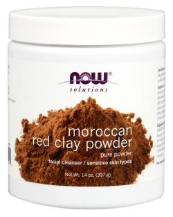 NOW: Moroccan Red Clay Powder 14 oz