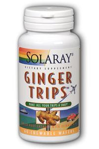 Solaray: Ginger Trips Chewable 60ct 67mg