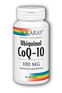Solaray: Ubiquinol CoQ10 100mg 30ct sg