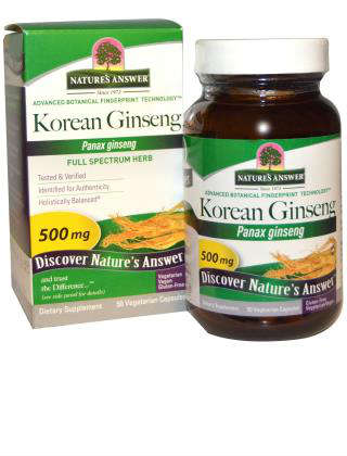 Ginseng Root Korean 50 VGC from NATURE'S ANSWER