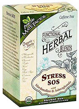 FUNCTIONAL HERBAL BLENDS: Stress SOS with Marshmallow and Ashwagandha 20 bag