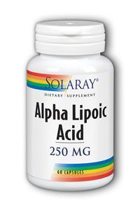 Solaray: Alpha Lipoic Acid 250 mg 60ct 250mg