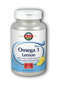 Kal: Omega-3 with Natural Lemon Flavor 60ct 1070mg