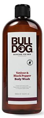 BULLDOG NATURAL SKINCARE: Body Wash Vetiver & Black Pepper 16.9 OUNCE