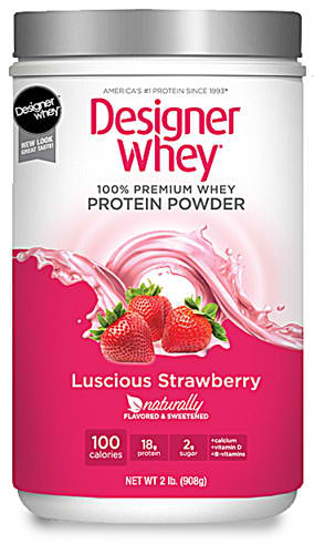 DESIGNER WHEY: Designer Whey Protein Powder Strawberry 2 LBS