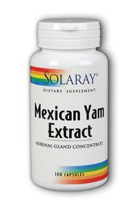 Solaray: Mexican Yam Extract and Adrenal Gland Concentrate 100ct 500mg