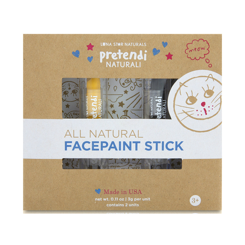 LUNA STAR NATURALS: Pretendi Naturali All-Natural Mineral Face Paint Sticks Duo Pack Yellow/Black 2 ct