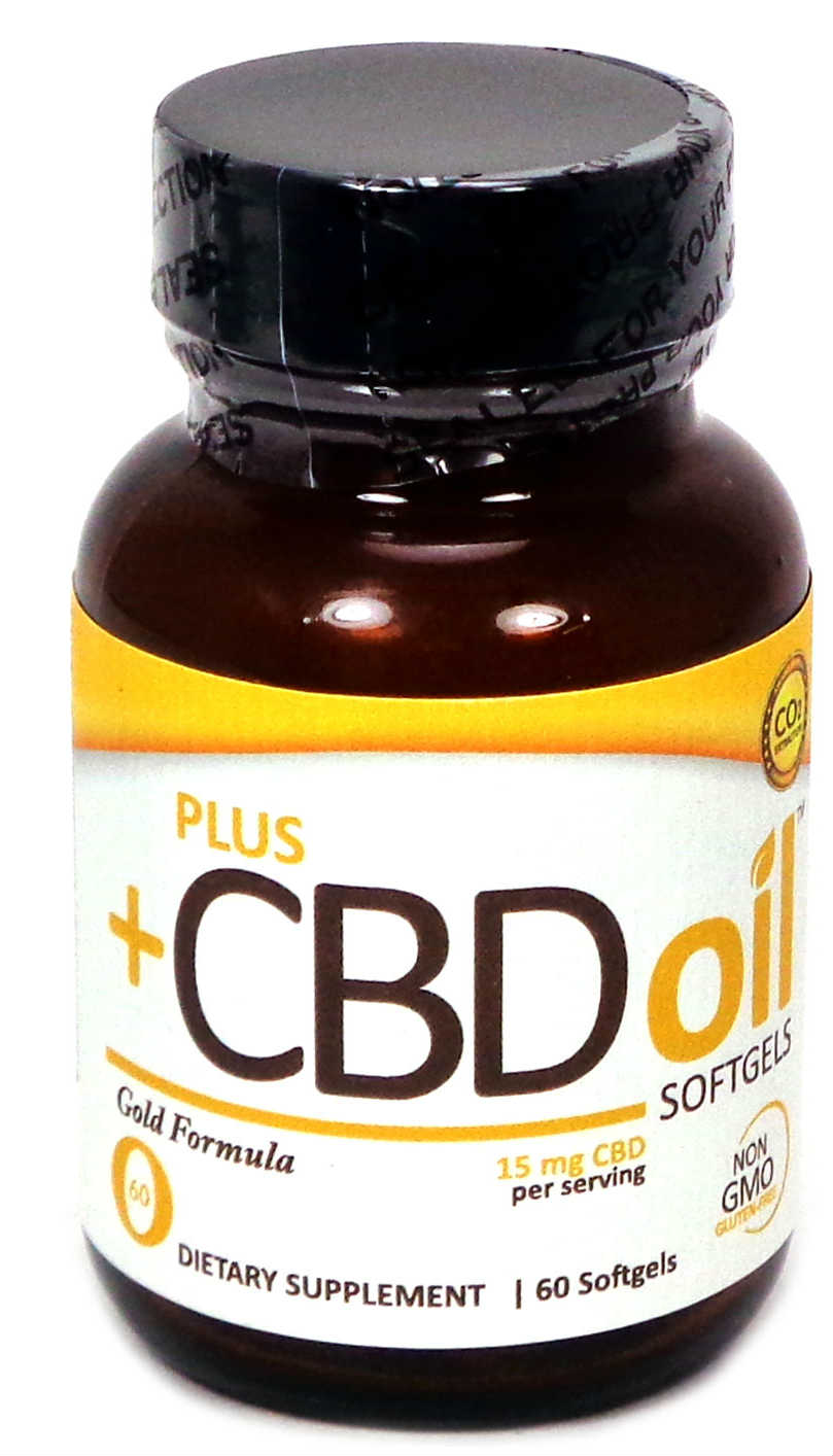 CBD Oil Gold Softgels 15mg, 60 sfg