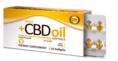 CBD Oil Gold Softgels 15mg, 10 sfg