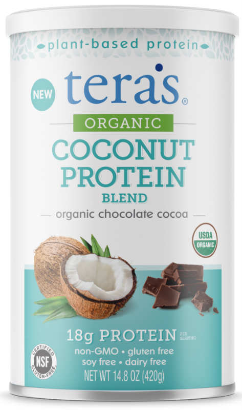 TERA'S WHEY: Organic Coconut Protein Chocolate 12 ounce