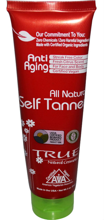TRUE NATURAL: All Natural Self Tanning Lotion 3 oz
