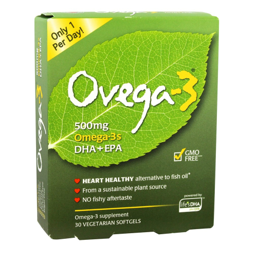 I-HEALTH INC: Ovega-3 500mg Omega-3s DHA+EPA 30 softgel vegi