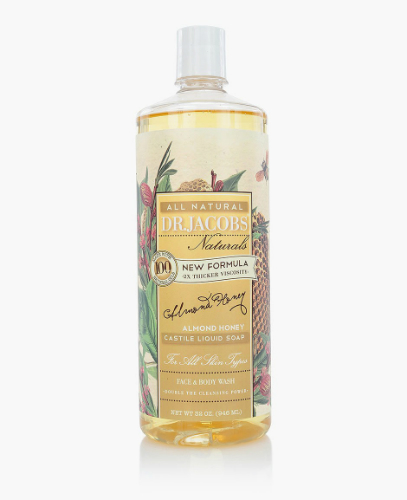 Natural Face & Body Wash Almond Honey 32 oz from DR JACOBS NATURALS