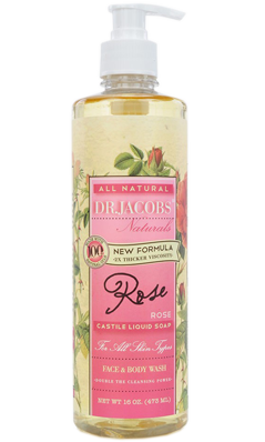 Natural Face & Body Wash Rose