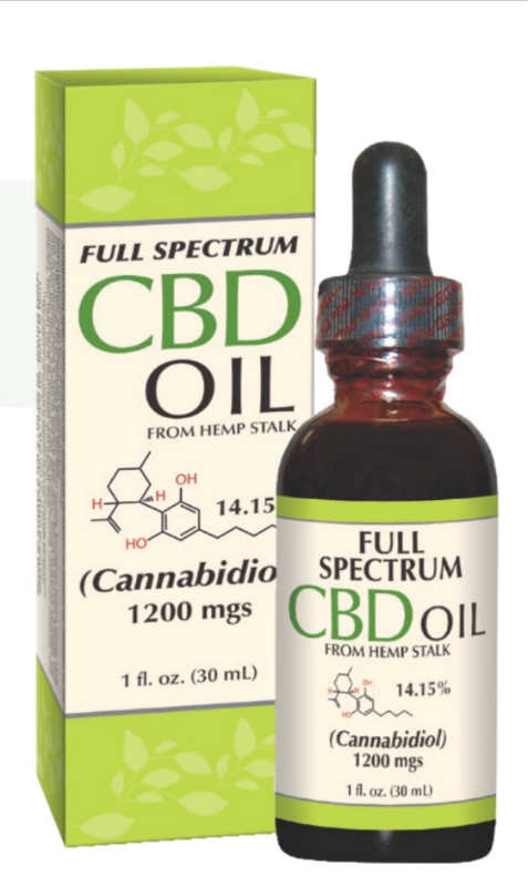 CBD Oil 1200 mg Full Spectrum, 1 fl oz