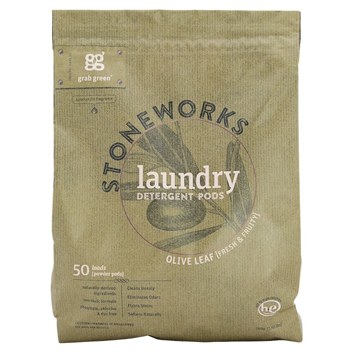 GRAB GREEN: Stoneworks Laundry Pods Olive Leaf 50 LD