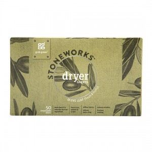 Stoneworks Dryer Sheets Olive Leaf 50 CT from GRAB GREEN