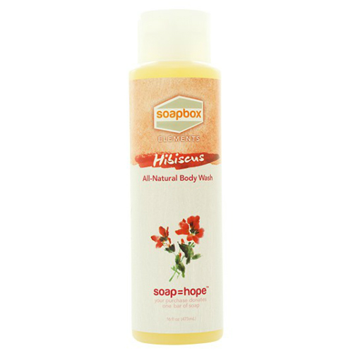 SOAPBOX: All Natural Body Wash Hibiscus 16 oz