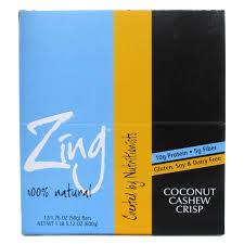 ZING: ZING BAR COCONUT CASHEW CRISP 12/BX