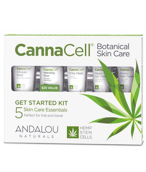 ANDALOU NATURALS: CannaCell Botanical Get Started Kit 5 pc