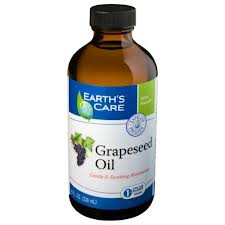 EARTH'S CARE: Grape Seed Oil 100 Percent Pure and Natural 8 oz