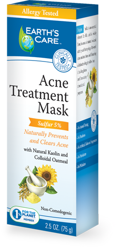 EARTH'S CARE: Acne Treatment Mask (5 Percent Sulfer) 2.5 oz