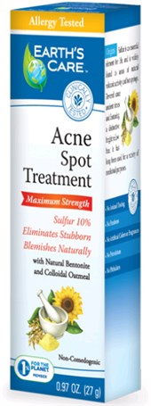 EARTH'S CARE: Acne Spot Treatment (10 Percent Sulfur) 0.97 oz