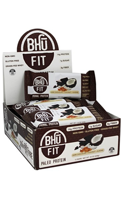 BHU FIT BAR VEGAN BROWNIE 1.6oz / 12 Box from Bhu Foods